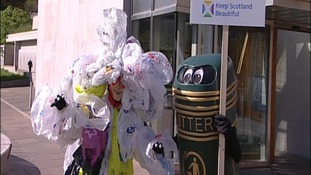Bag Monster and Litter Bin