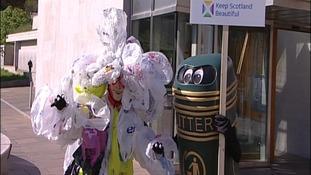 Bag Monster and Litter Bin