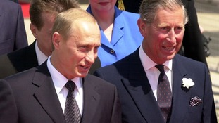 Vladimir Putin and Prince Charles in 2003.