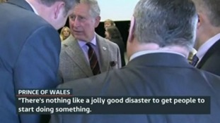 Prince Charles during a visit to the Somerset Levels earlier this year.
