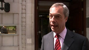 "Nigel Farage said he is a ""great supporter of the Royal family""."