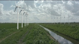 Wind turbines in Lincolnshire