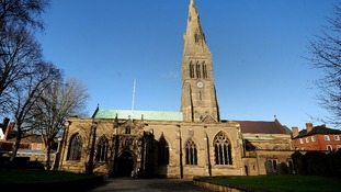 Leicester Cathedral where Richard III will now be buried.