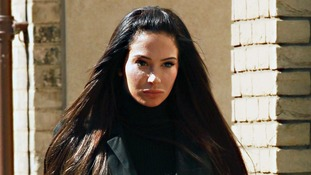 Tulisa arriving at Chelmsford Magistrates' Court.