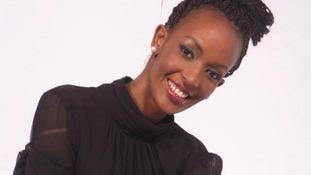 Former Miss Africa winner Linah Keza.
