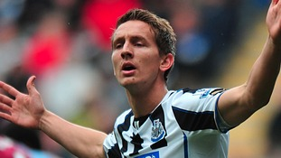 Luuk de Jong has been with the Magpies since January.