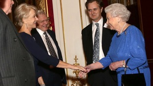 Dame Helen Mirren meeting the Queen earlier this year