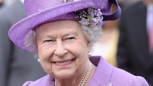 Queen Elizabeth II earlier this week at the year's first Buckingham Palace garden party