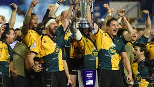 Saints with the Amlin Challenge Cup