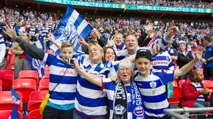 QPR fans at Wembley.