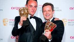 Ant and Dec with their two BAFTAs earlier this month.
