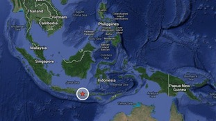 Bali is shown on a map.