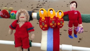 Yarnbombers bring World Cup fever to Saltburn.