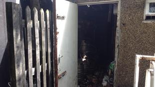 Damaged club house