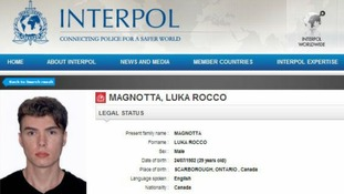 Interpol have provided various photos and a description of Canadian porn actor Luka Rocco Magnotta
