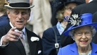 The Duke of Edinburgh at Epsom with the Queen