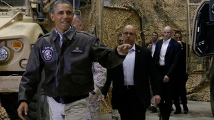 US President Barack Obama announces Afghanistan war to finish by year's end.