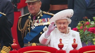 The Duke of Edinburgh took full part in yesterday's River Pageant.