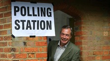 Nigel Farage's UKIP party has come out on top in the West Midlands
