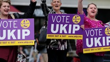 UKIP's share of the vote was higher in the East Midlands than anywhere else in the country