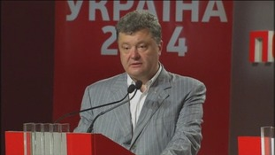 Petro  Poroshenko has said he will not recognise the annexation of Crimea.