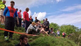 Annual Cheese Rolling underway in Gloucestershire