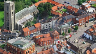 Fakenham town centre after the fire