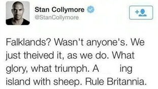 Veterans 'outraged' by Stan Collymore's controversial Falklands tweet