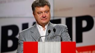 Newly elected Ukrainian president Petro Poroshenko.