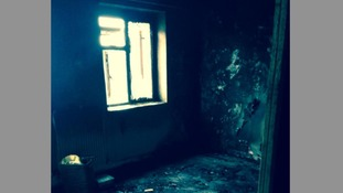The flat was gutted by an e-cigarette which exploded