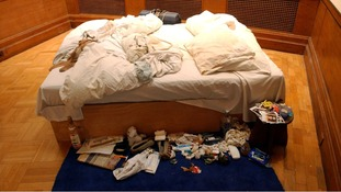 Tracey Emin's famous unmade bed goes up for sale