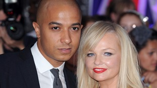 Singer Jade Jones and former Spice Girl and fiancee Emma Bunton.