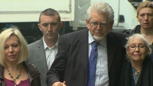 Rolf Harris arriving at Southwark Crown Court where he denies 12 counts of indecent assault.