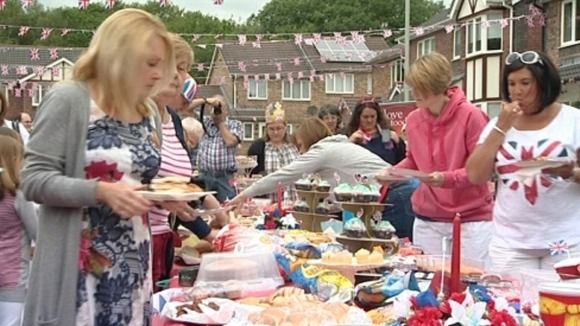 A street party in Llantwit Fardre