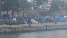 One of the improvised migrant camps in Calais.