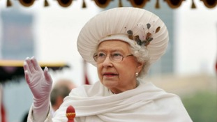 The Queen on the royal barge