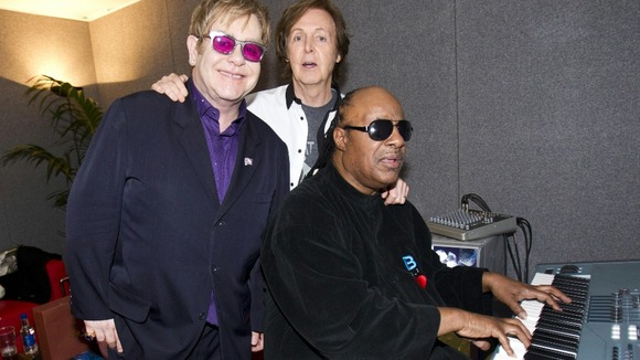 Elton John, Sir Paul McCartney & Stevie Wonder