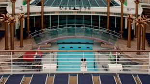 The upper deck on the Independence of the Seas.