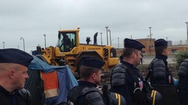 French police clear migrant camps in Calais