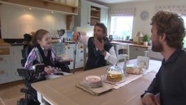 Twin adventurers from Devon meet paralysed girl
