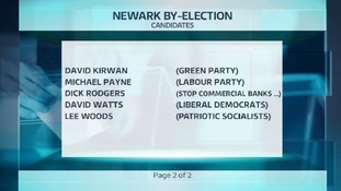 Eleven candidates are standing in Newark