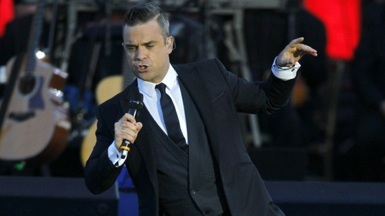 Swing magic: Robbie Williams performs Mack The Knife