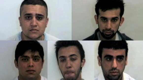 Five Asian men were sentenced to a total of 32 years in jail for abusing girls.