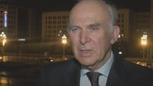 Business Secretary Vince Cable, speaking from China tonight.