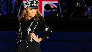 Kylie Minogue on stage outside Buckingham Palace during the Diamond Jubilee Concert