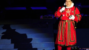 Peter Kay on stage during the Diamond Jubilee Concert