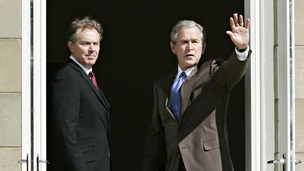 Tony Blair and George Bush in 2005.