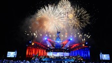 Fireworks above Buckingham Palace during the Diamond Jubilee Concert.
