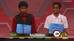 In the end, the contest came down to 'feuilleton'.