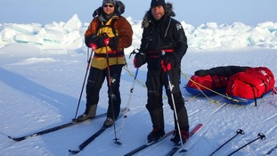 Jake Thompson & Steve Bennett whilst on their trek to the North Pole.